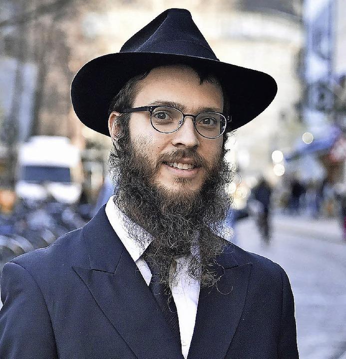Rabbiner Yakov Gitler in Freiburg   | Foto: Bamberger