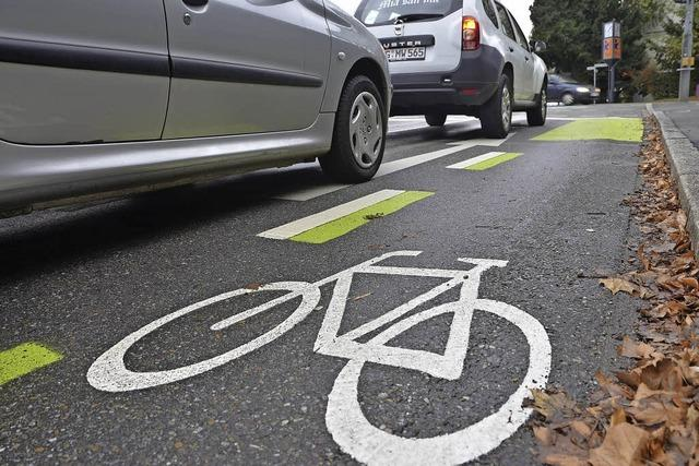 Stadt setzt bei Radschutzstreifen auf Gewöhnungseffekt