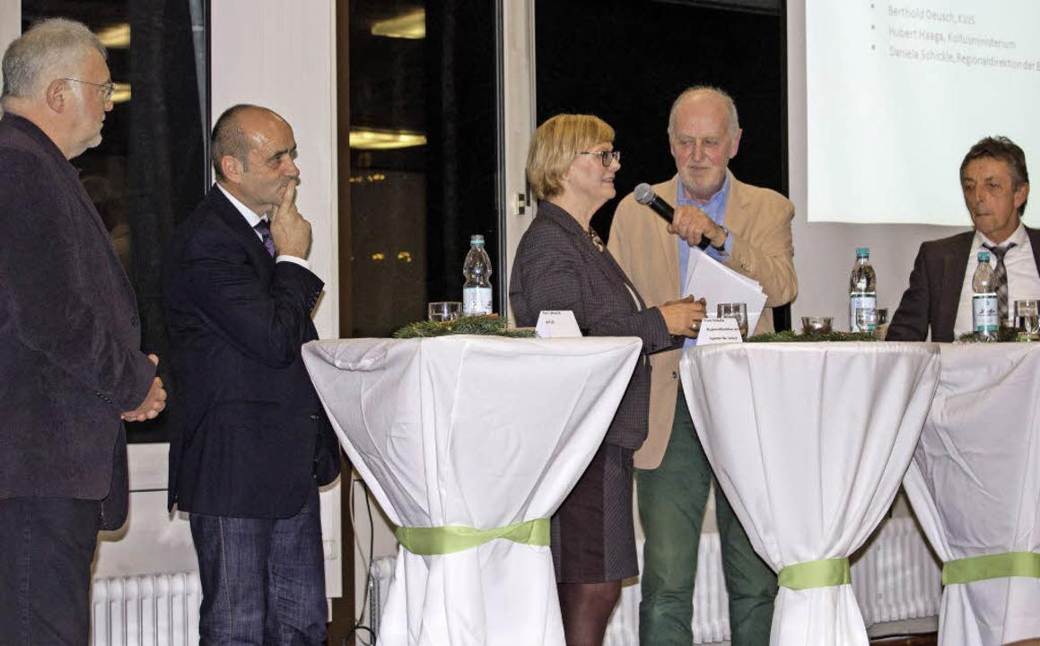 Manfried Fischer, Bertold Deusch, Dani...nes Kehm und Hubert Haaga (von links)   | Foto: Ansgar Taschinski