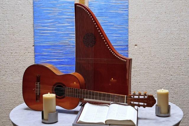 Musik auf der Veeh-Harfe in Schliengen und Betberg