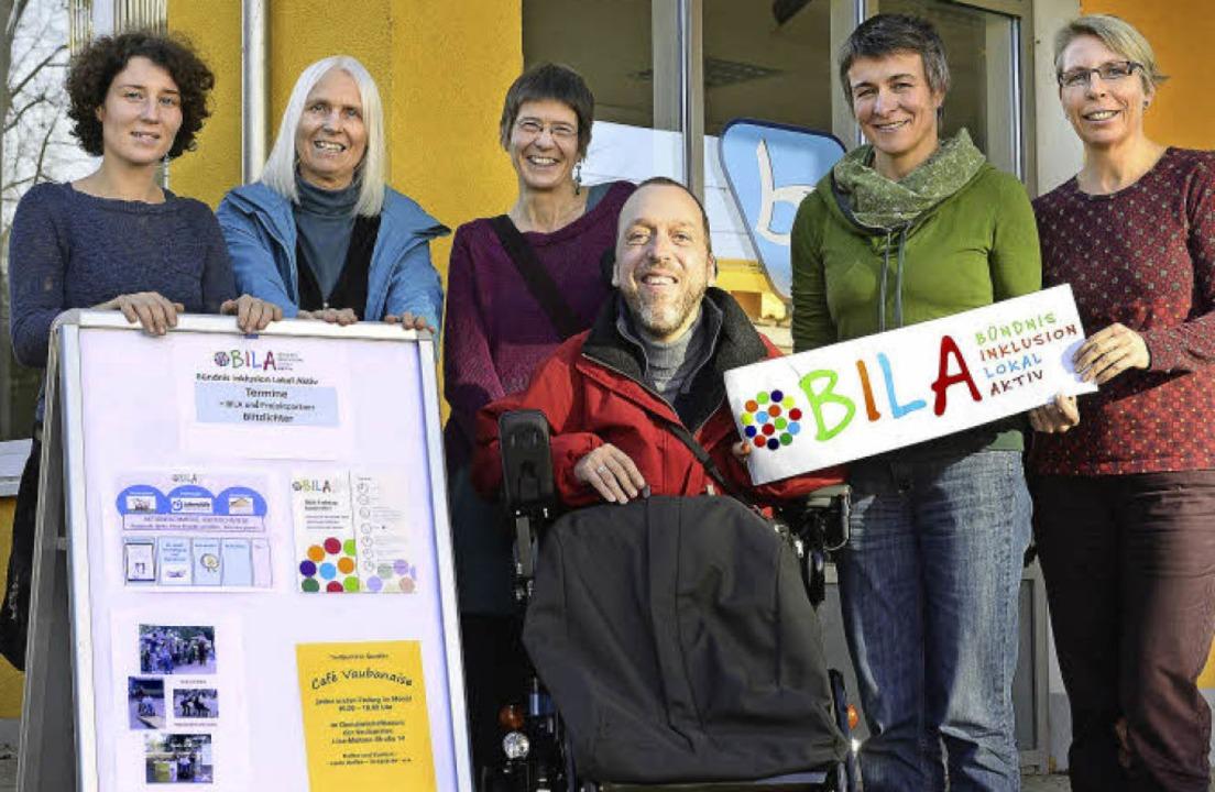 Im Bündnis:  Marina Müller vom Kindera...cher von der Lebenshilfe (von links).   | Foto: Schneider