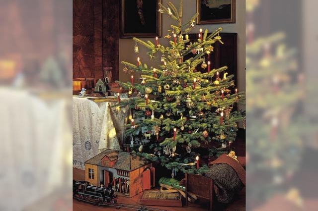 Socken und weiße Weihnacht