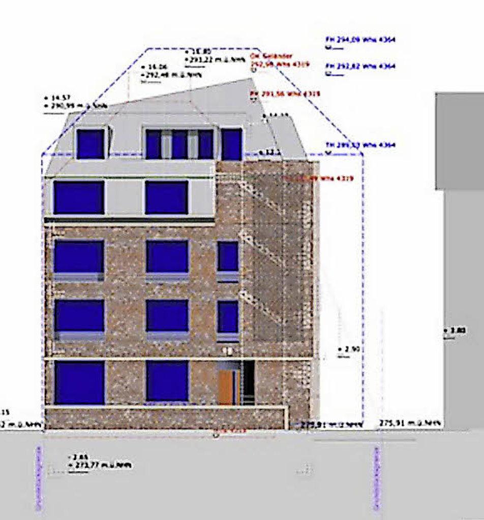 gestaltungsbeirat und stadtverwaltung rgern sich ber plan f r ein haus an der erwinstra e. Black Bedroom Furniture Sets. Home Design Ideas