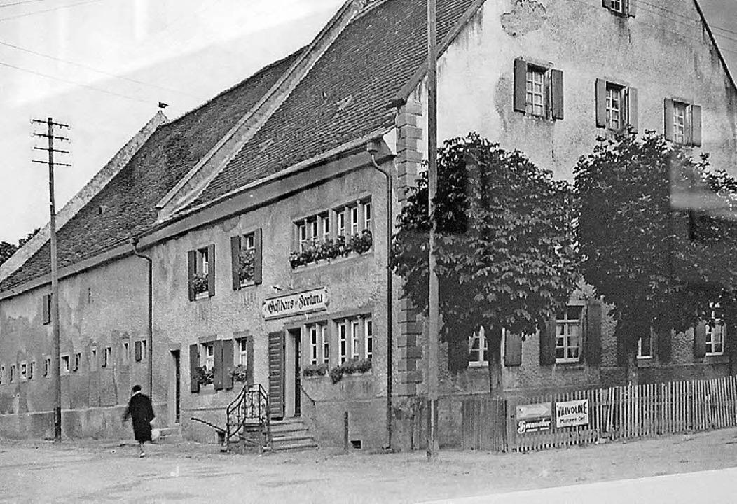 Eine seltene historische Aufnahme vom Hotel Fortuna in der Ausstellung.  | Foto: Erich Krieger
