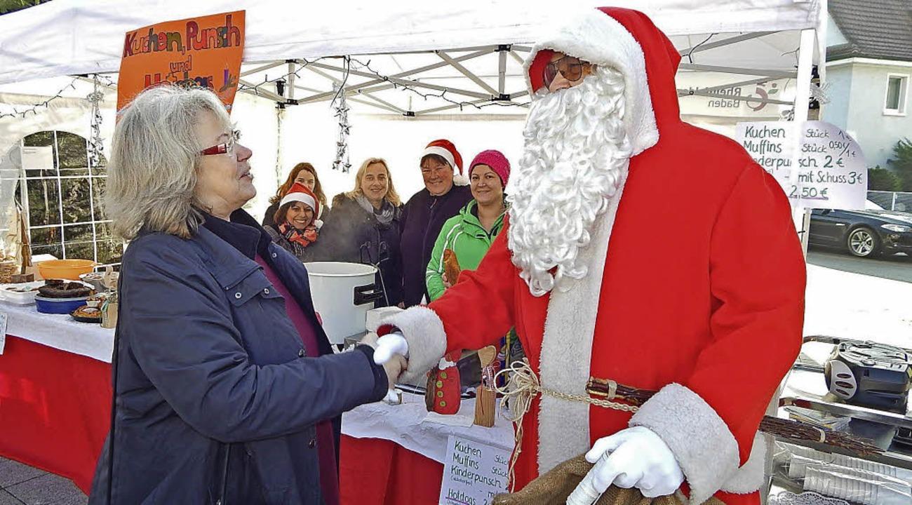 Klein, aber fein, präsentierte sich am...der Nikolaus einen Besuch abstattete.   | Foto: Claudia gempp