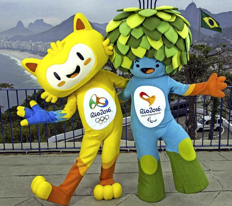 Auch sie können nur beschränkt gute La...Maskottchen Vinicius (links) und Tom.   | Foto: dpa