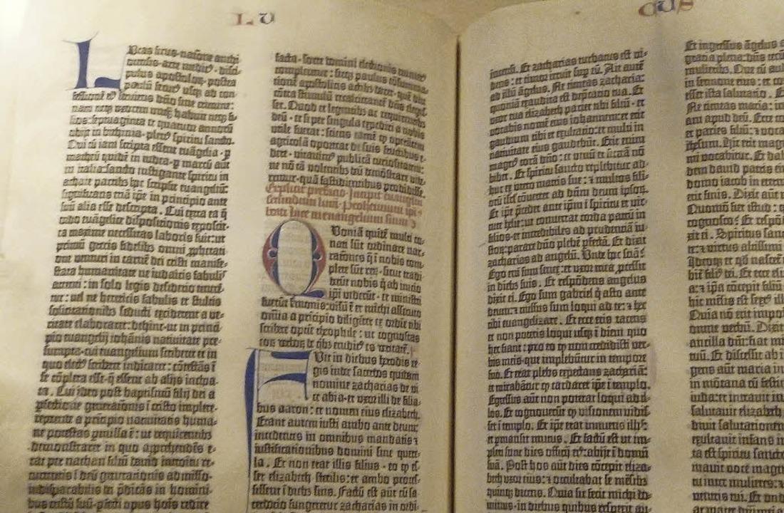 Die Gutenberg-Bibel in Washington gehö...hatz der Benediktiner in St. Blasien.   | Foto: Thomas Mutter