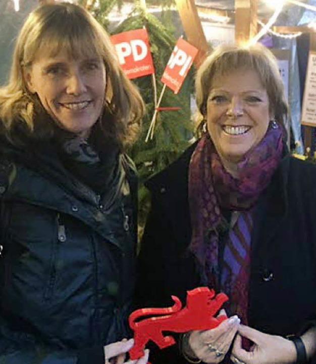 Birte Könnecke (links) und Sabine Wölfle zu Besuch in der Kurstadt.  | Foto: privat