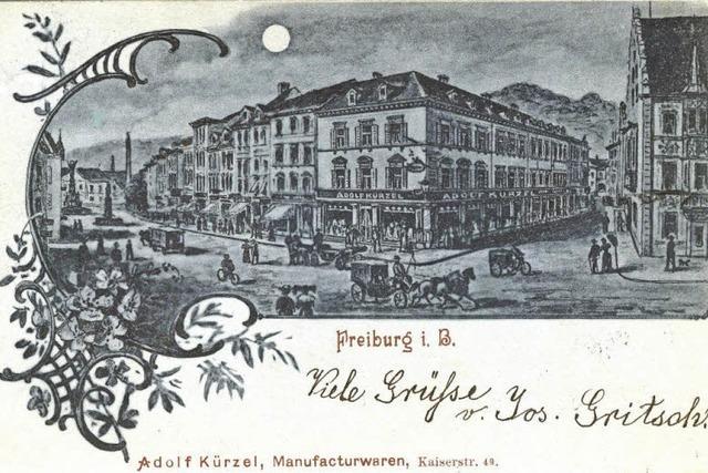 Die Firma Adolf Kürzel war ein traditionsreiches Spezialgeschäft für Stoffe