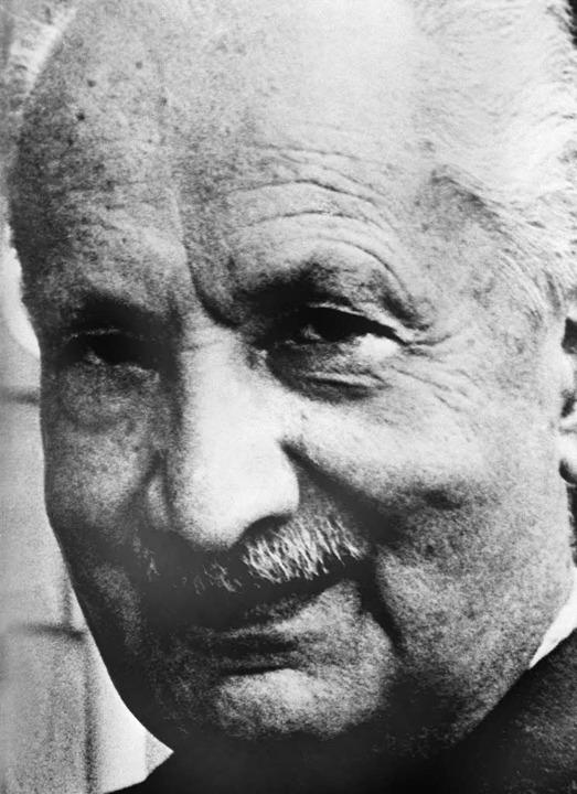 Martin Heidegger (1889 bis 1976)  | Foto: dpa