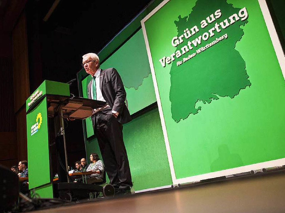 "Winfried Kretschmann sieht die Grünen ...;neue Baden-Württemberg-Partei"".  | Foto: dpa"