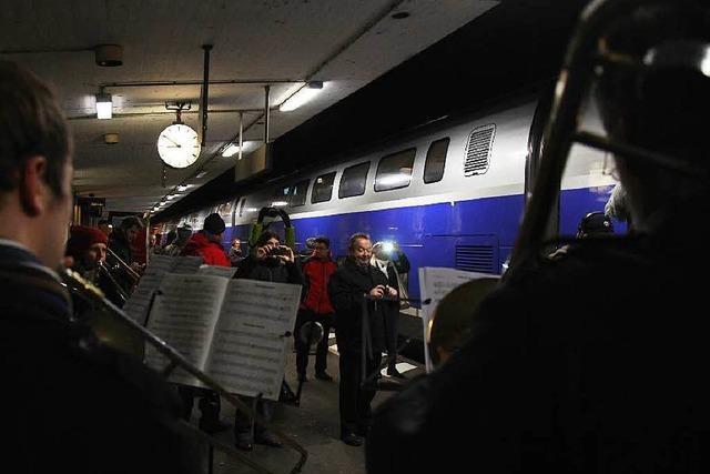 Erster regulärer TGV-Halt in Müllheim