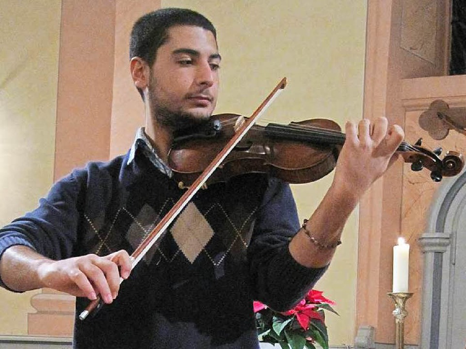 Rami Basisah hat in Syrien Musik studiert.  | Foto: Privat