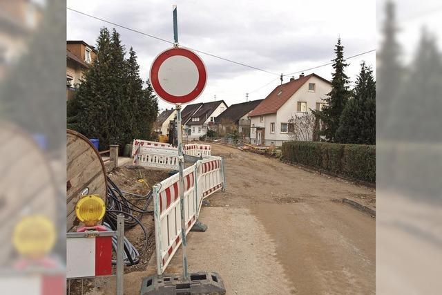 Löwenstraße und Rosenweg bis Mitte Februar fertig