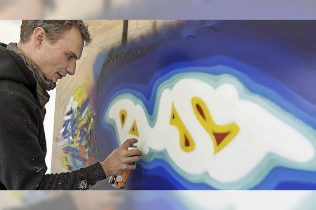 Versteigerung von Graffiti für einen guten Zweck