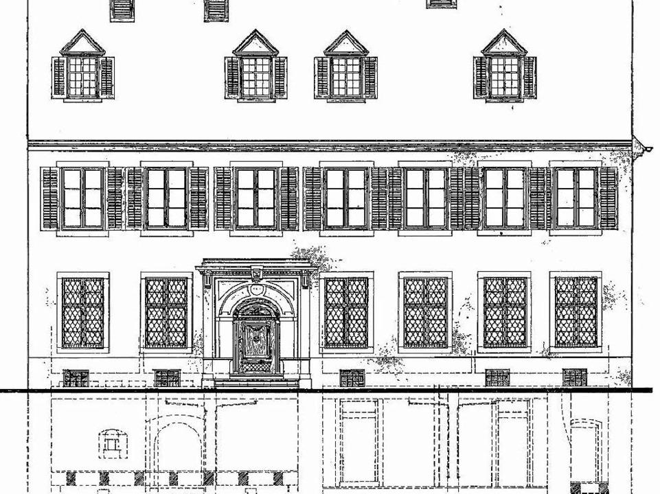 Skizze von Fassade und Keller des frühklassizistischen Gebäudes.  | Foto: privat