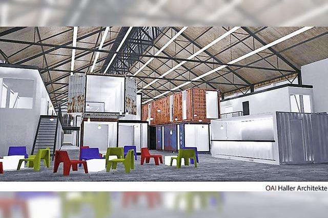 Lokhalle auf dem Güterbahnhof-Gelände wird Kreativpark