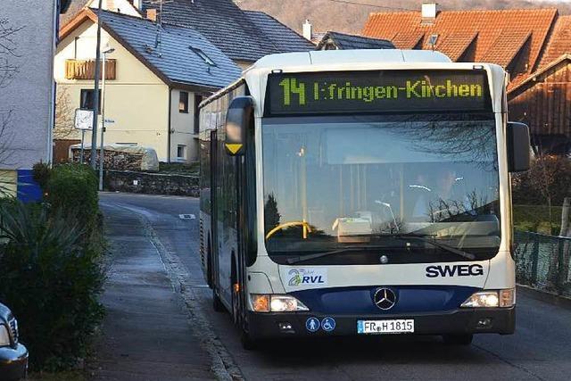 Gemeindebuslinie 14: Jungfernfahrt ganz ohne Fahrgäste