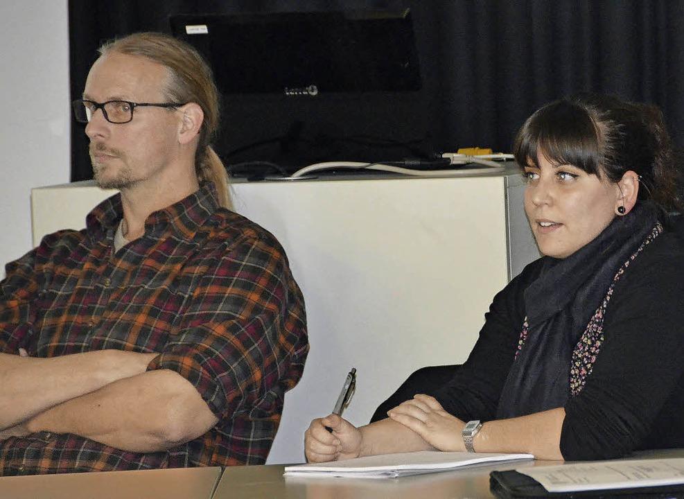 Andreas Kraft und Veronica Paolino  | Foto: Juliane Kühnemund