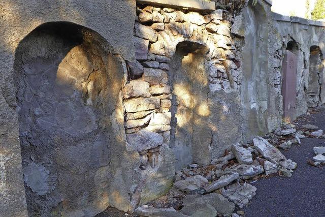 Eine Ruine an der Ruhestätte