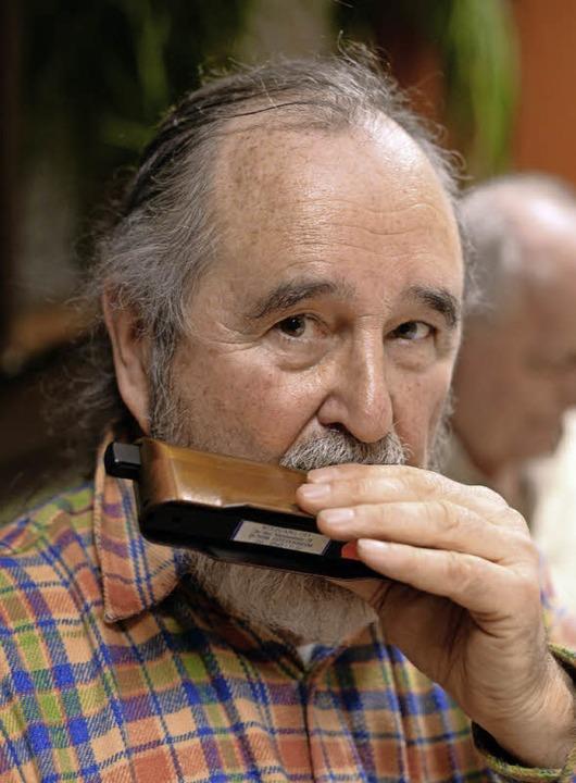 Der Organisator des Mundharmonika-Stammtisches: Wolfgang Ott  | Foto: Patrick Seeger