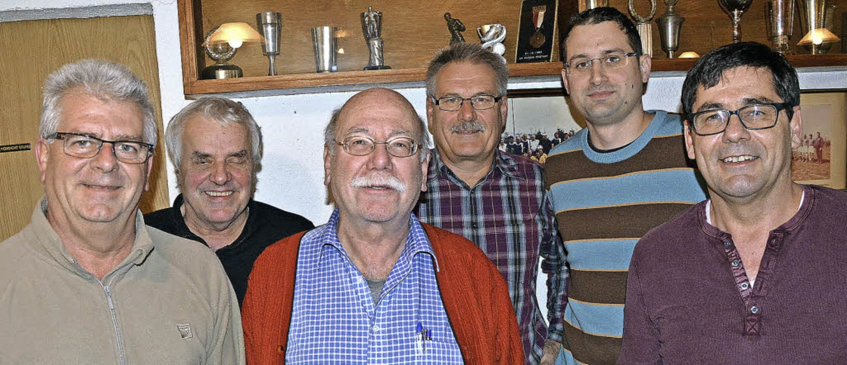 Der neue Vorstand des Fördervereins SV...ter, Markus Forster und Bernd Brombach  | Foto: Heinz Vollmar
