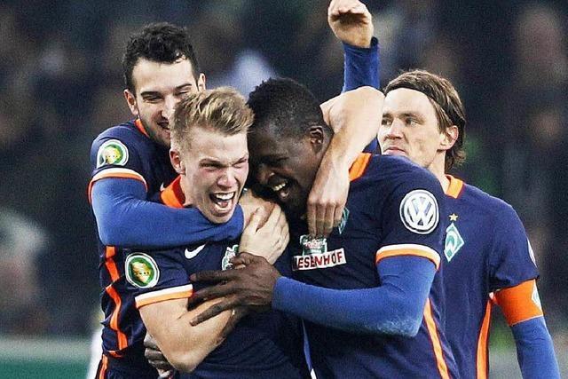 DFB-Pokal: 4:3 - Bremen überrascht in Gladbach