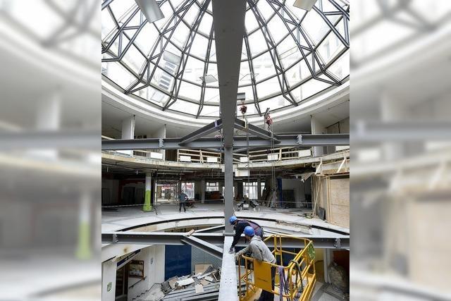 Der Umbau des Atriums läuft