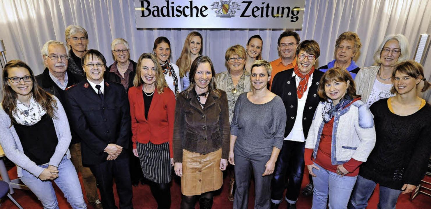 Sie unterstützen andere – und we...n  56531 Euro an 19 soziale Projekte.   | Foto: kunz