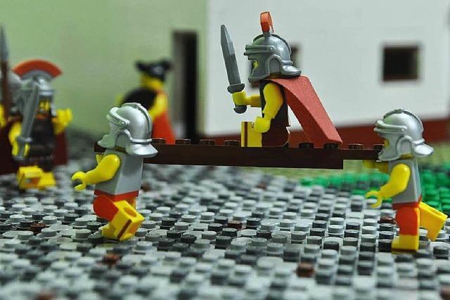 Museum baut Römerlager aus 100.000 Legosteinen