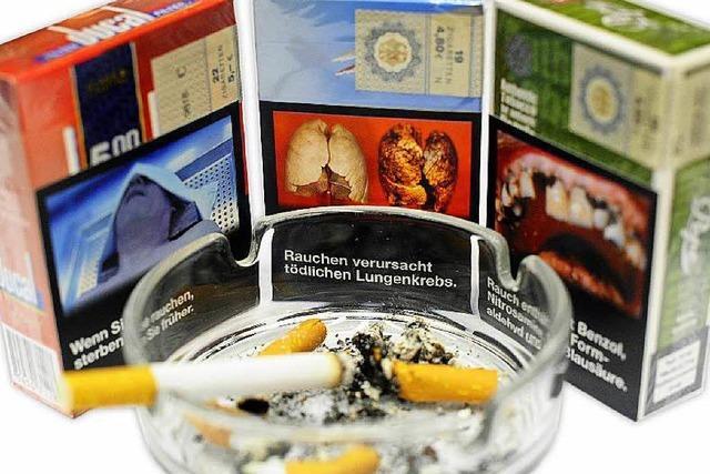 Schock-Fotos aus Tabak-Packungen kommen im Mai