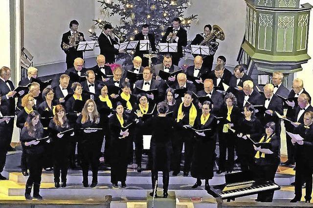 Gesangverein und Gäste in Teningen-Köndringen