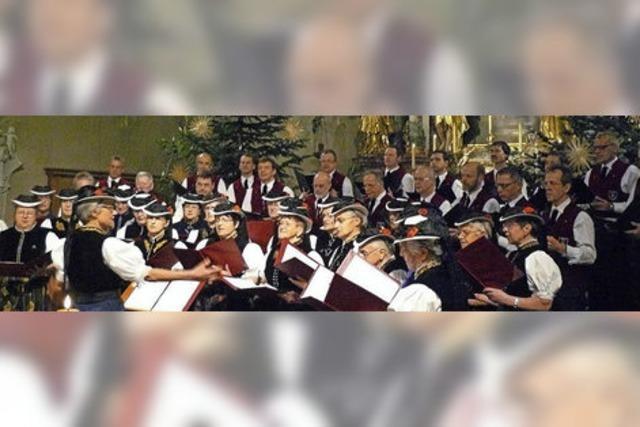 Männergesangverein St. Märgen und der Landfrauenchor St. Märgen in St. Märgen