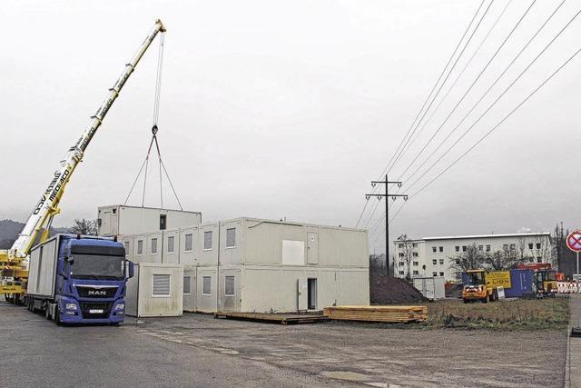 Flüchtlingscontainer für Tiengen