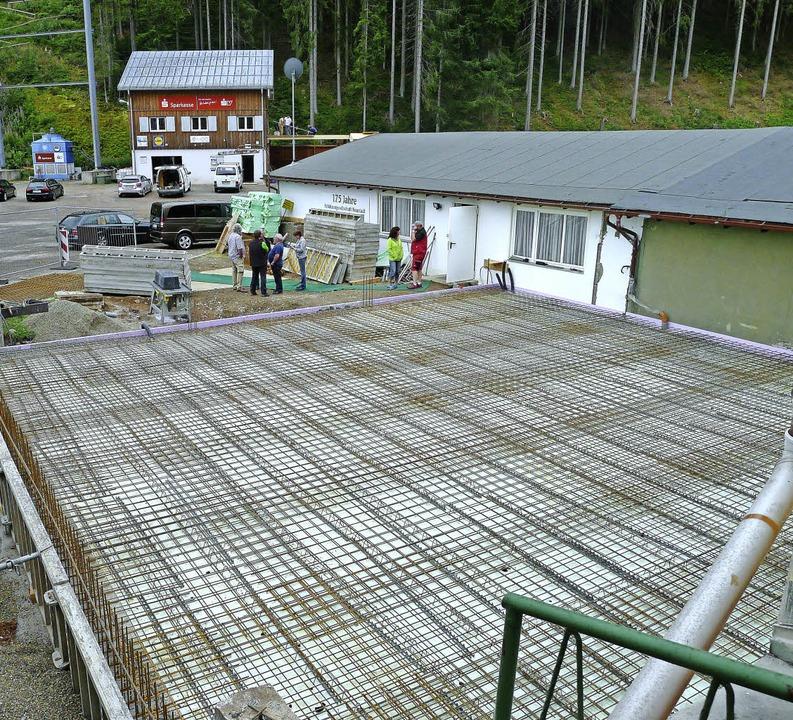 Die Baustelle der Luftgewehrhalle im August  diesen Jahres.   | Foto: Archivbild: Korinth