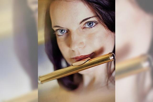 Mit Querflöte, Harfe und Geige