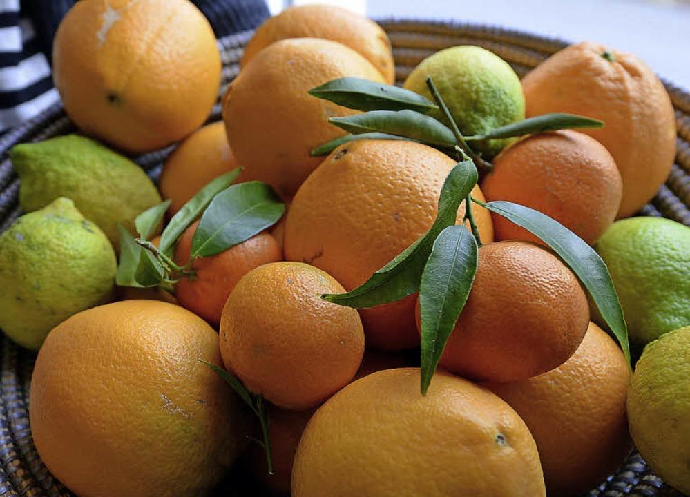So sehen echt sizilianische Orangen (und Zitronen) aus.  | Foto: Rita Eggstein