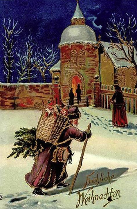 Weihnachtsmannpostkarte um 1912   | Foto: Auktionshaus Stade