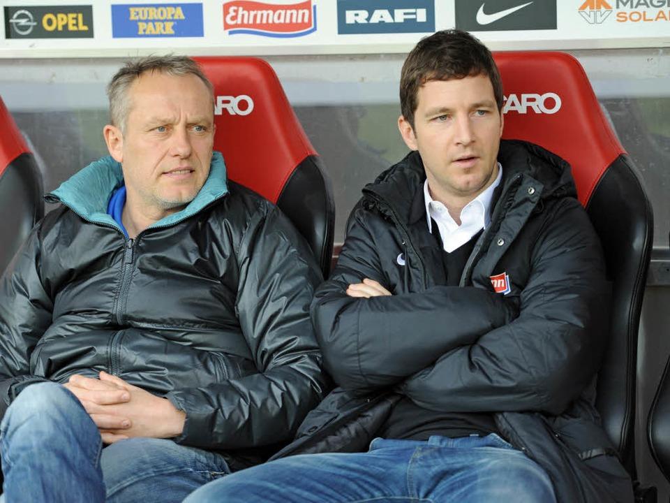 Jochen Saier (rechts) leitete von 2003...st nun Vorstand Sport des SC Freiburg.  | Foto: Achim Keller