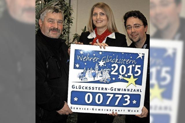 Gewinner der Wehrer Glückssternaktion 2015 stehen fest