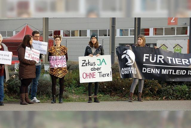 70 Demonstranten für Tierverbot in Zirkussen