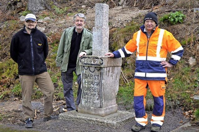 Gedenkstein erinnert an Unfall im Jahr 1820