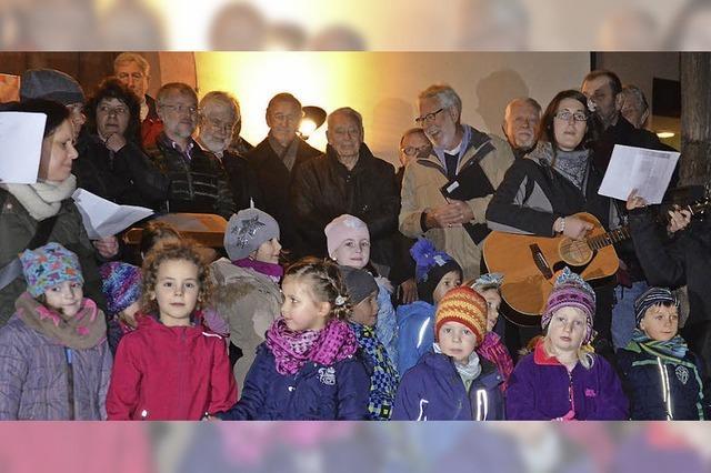 Drei Generationen singen zusammen