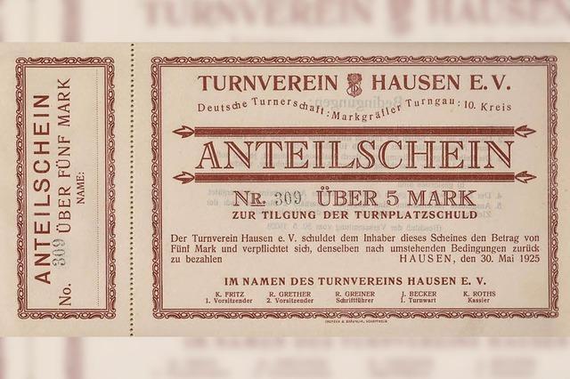 Mit fünf Reichsmark zum neuen Turnplatz