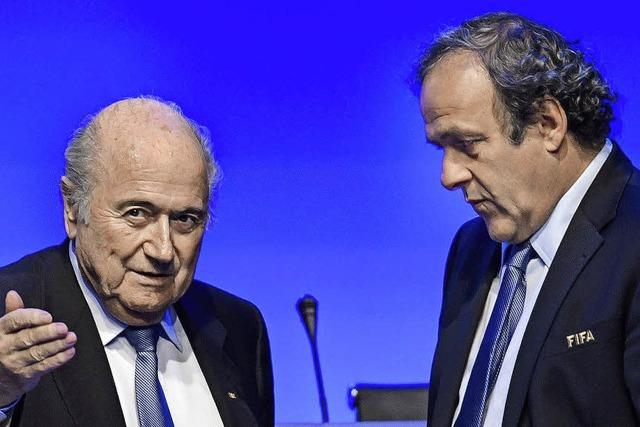 Fifa-Ethikkommission sperrt Joseph Blatter und Michel Platini