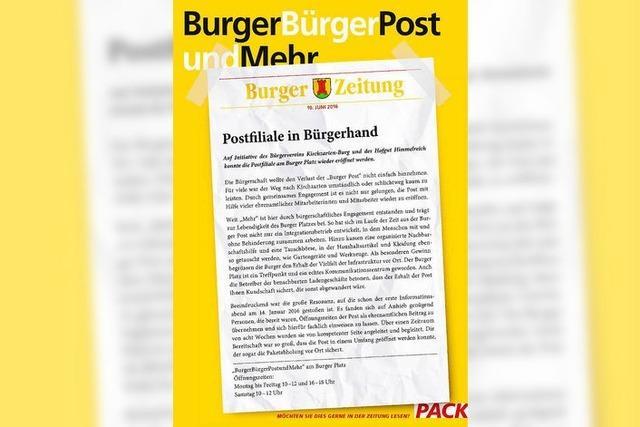 Post in Kirchzarten-Burg soll in Bürgerhand