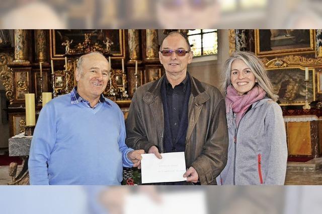 1150 Euro als Spende für den Glockenturm