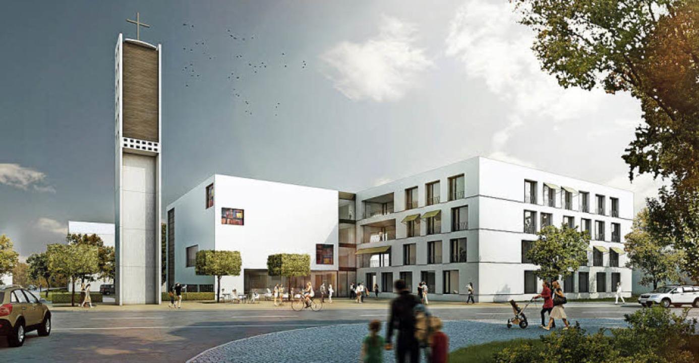 Der Entwurf für den neuen Baukörper  | Foto: Visualisierung: Sacker Architekten