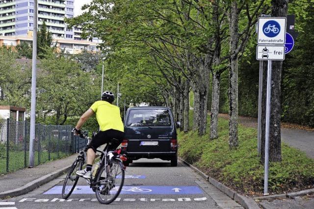 Neue Radroute hat sich aus Sicht der Stadt bewährt