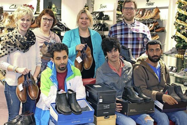 Schuhe für Flüchtlinge